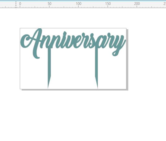 Anniversary cake topper 180 x 105  Add a number Acrylic  clear w